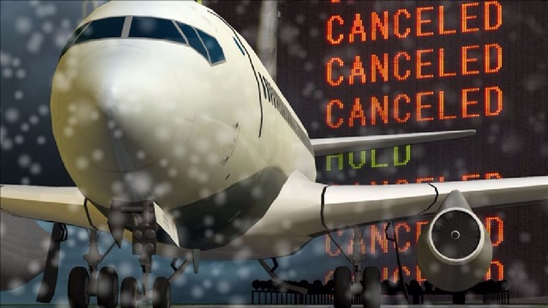 Blizzard grounds most flights in and out of New England